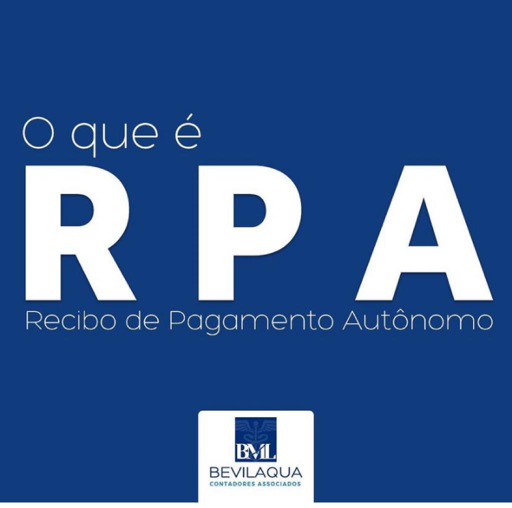 RPA - Recibo de Pagamento Autonômo